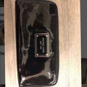 Michael Kors Patent Leather Accordion Wallet